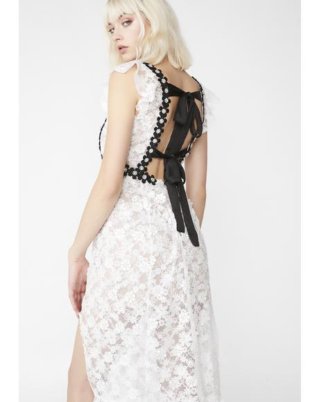 Isabel Embroidered Midi Dress