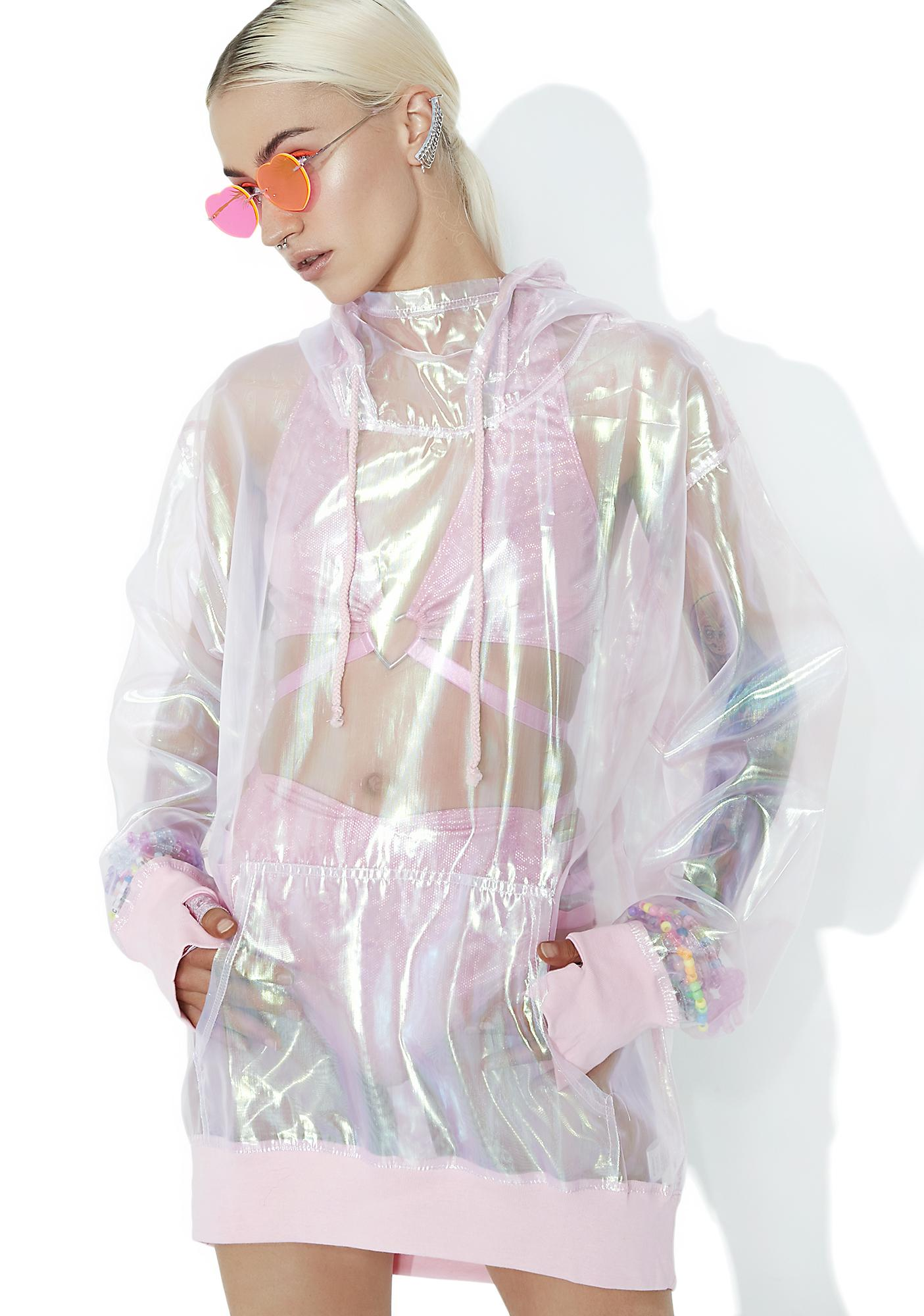 Club Exx Bubble Pop Iridescent Hoodie