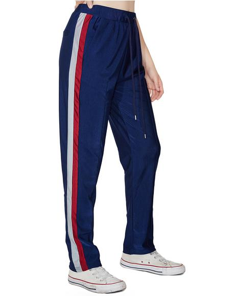 She's Got Game Striped Track Pants