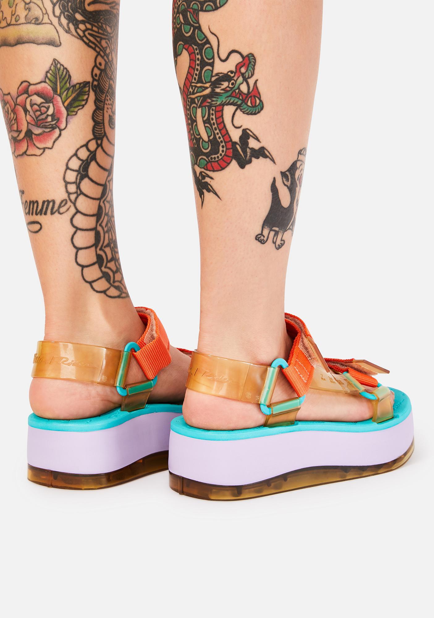 Melissa Purple Papete Platform Sandals