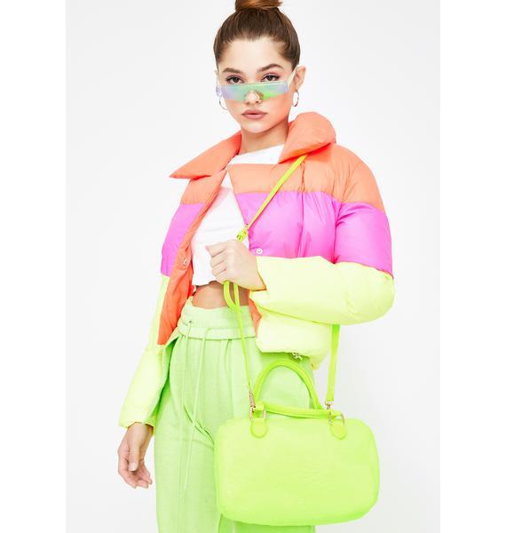 Make It Work Fuzzy Handbag