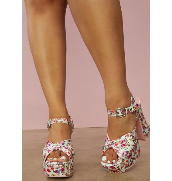 Sugar Thrillz Totally Buggin' Platform Sandals