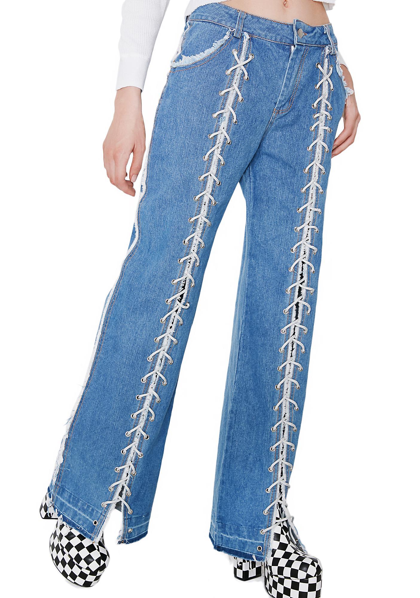 Eli'Noir Get Laced Jeans