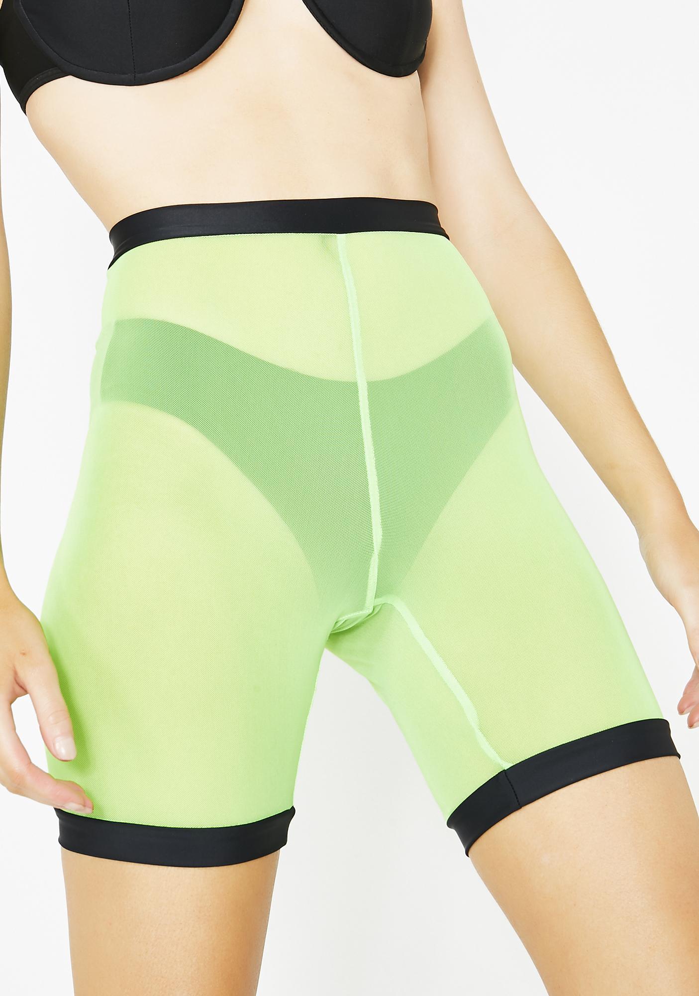 Night Glo Bikini N' Shorts Set by Club Exx