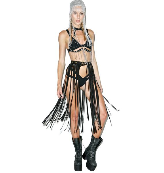 Queening Fringe Belt