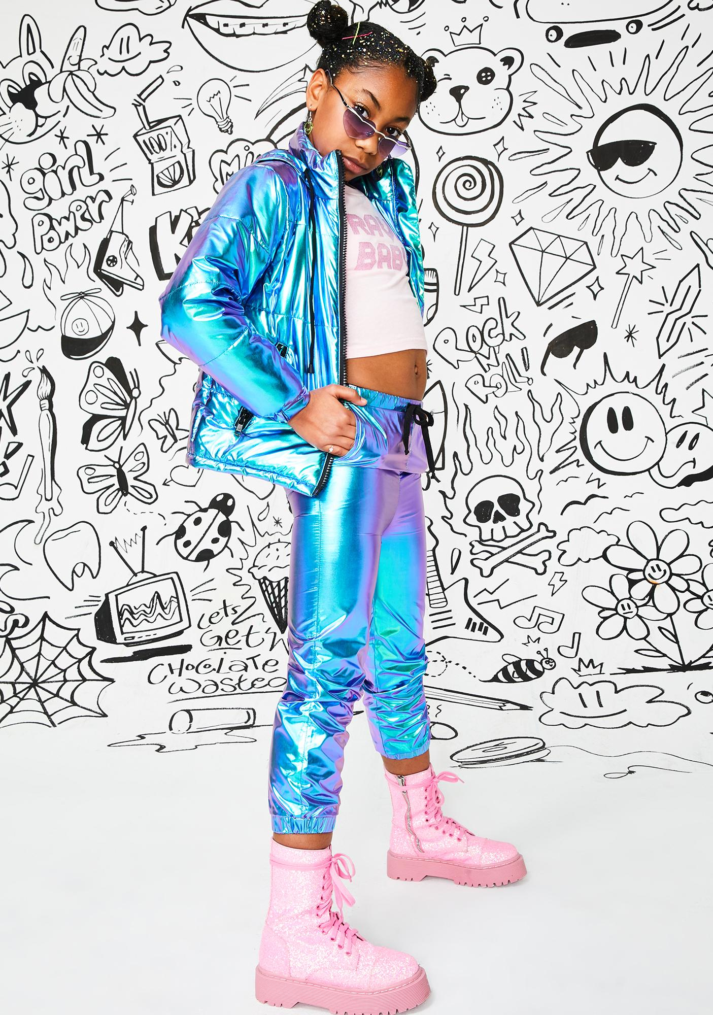 Club Exx Kids Space Bae Escapade Hologram Joggers