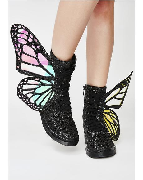 Metamorphic Glitter Boots