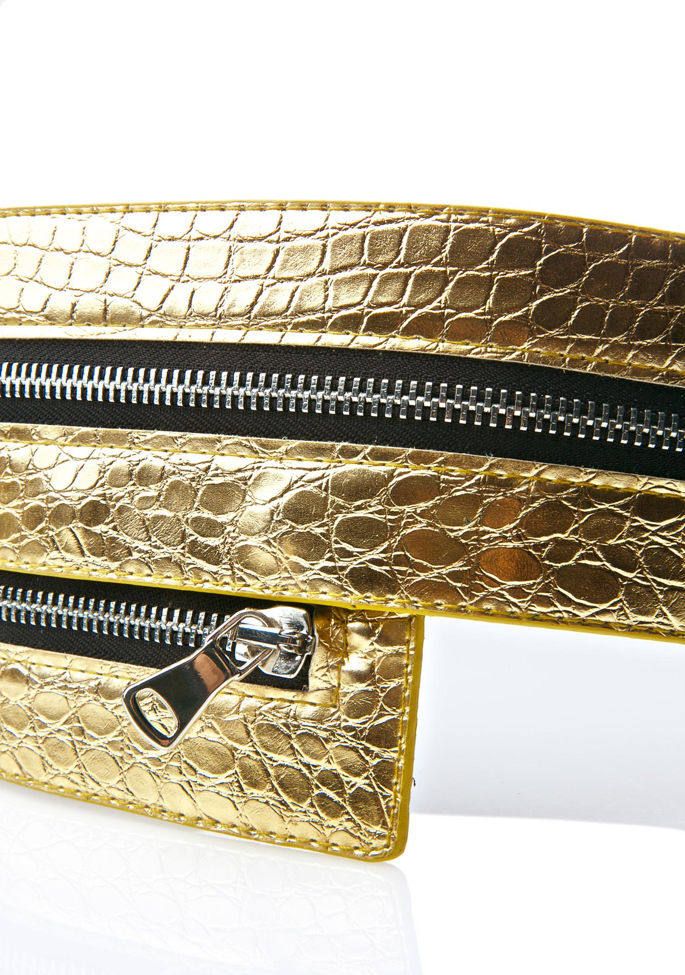 Gold Bellatrix Zipper Belt
