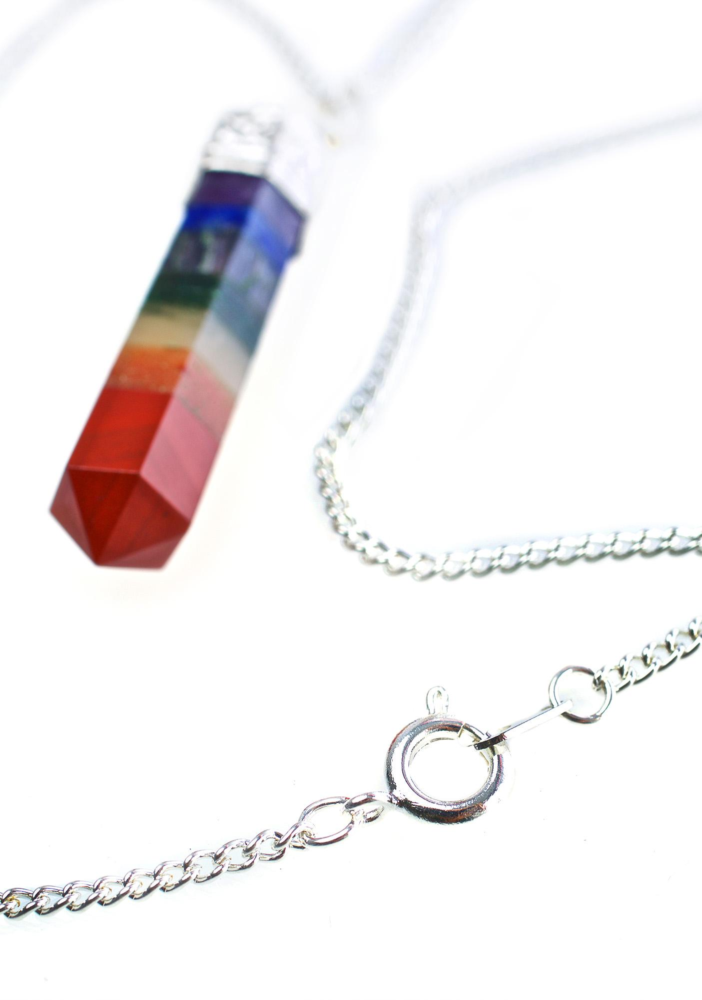 Rock n Rose Nova Seven Chakra Gemstone Necklace