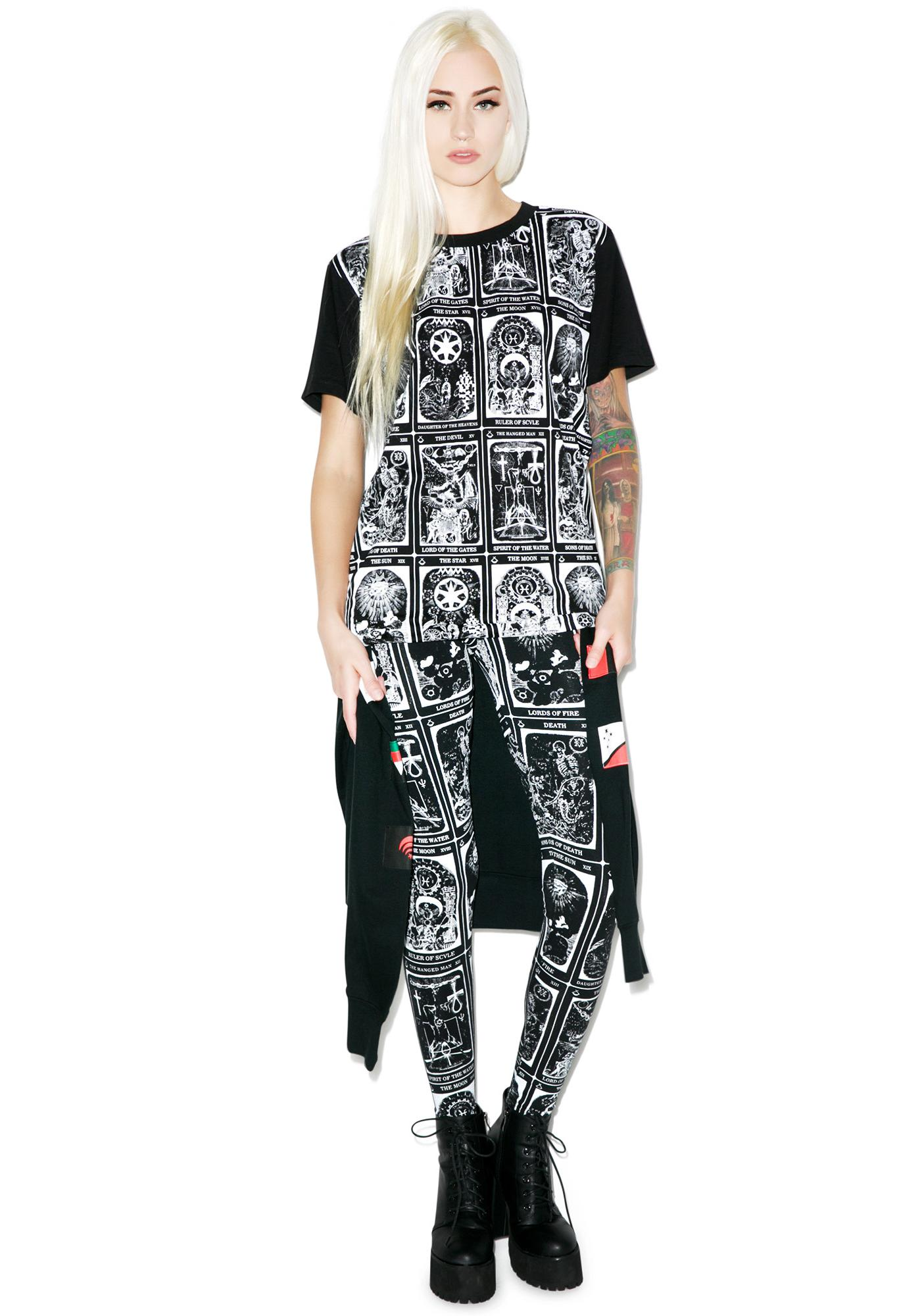Black Scale Trionfi Leggings