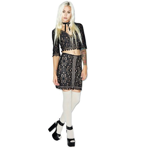 For Love & Lemons Florence Mini Skirt