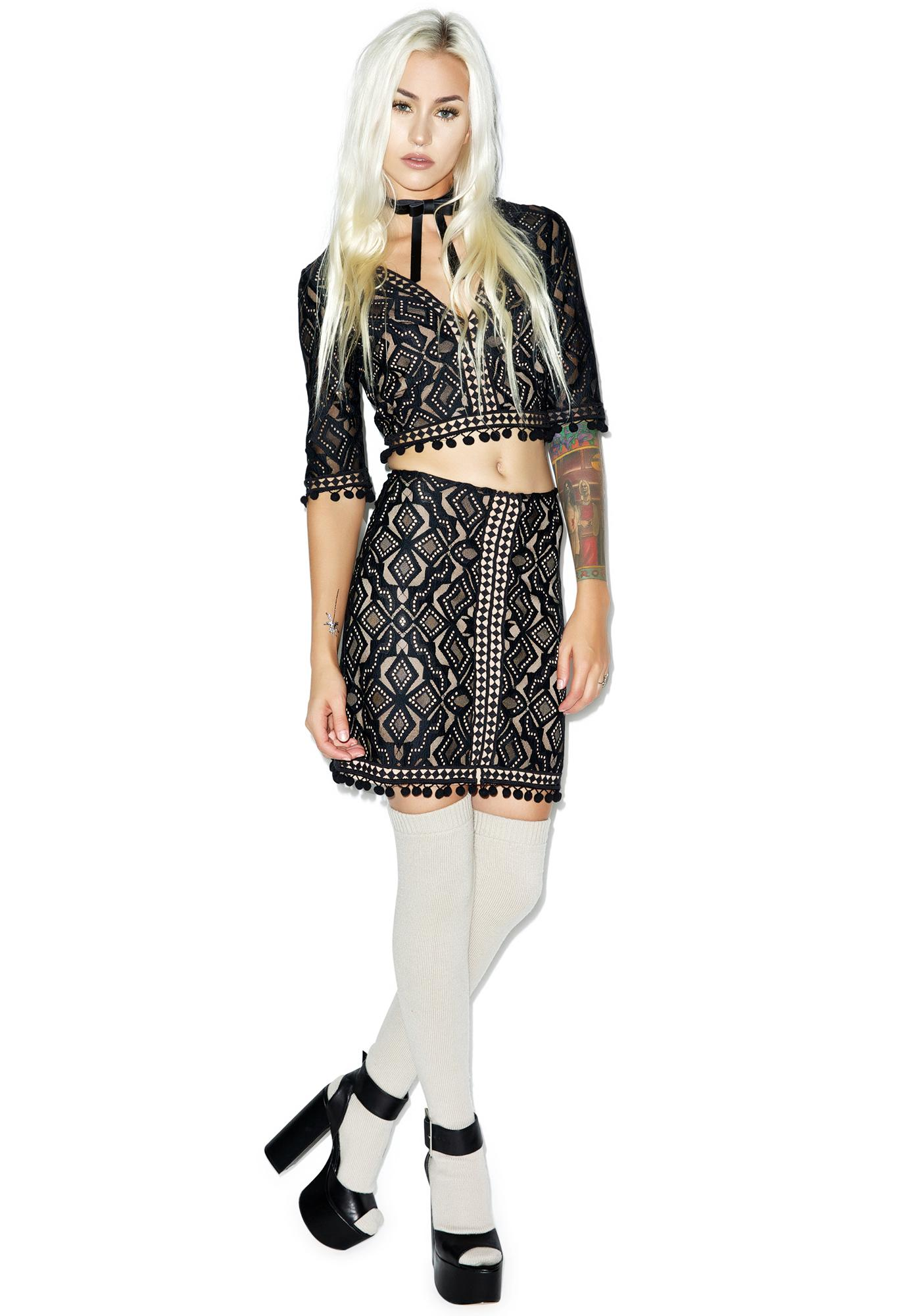 For Love & Lemons Florence Mini Skirt