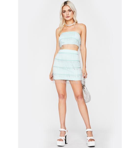 Mint Shimmer N' Shake Skirt Set