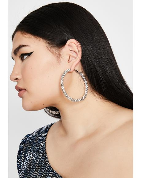 Bling Trends Rhinestone Hoops