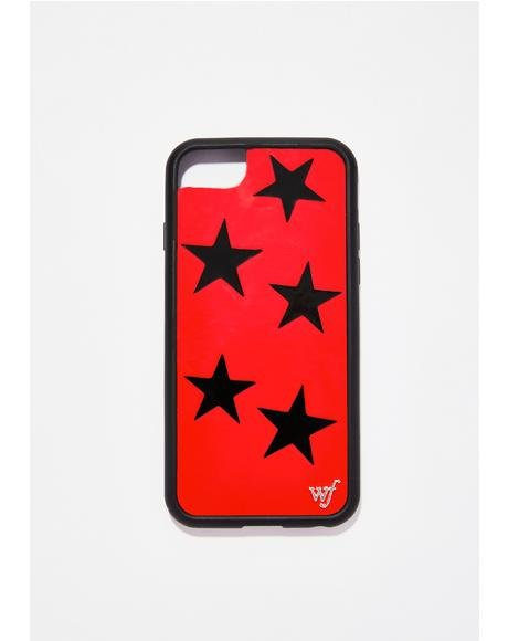 Red Vinyl Stars iPhone Case
