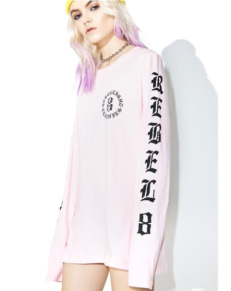 Immortals Pink Long Sleeve Tee