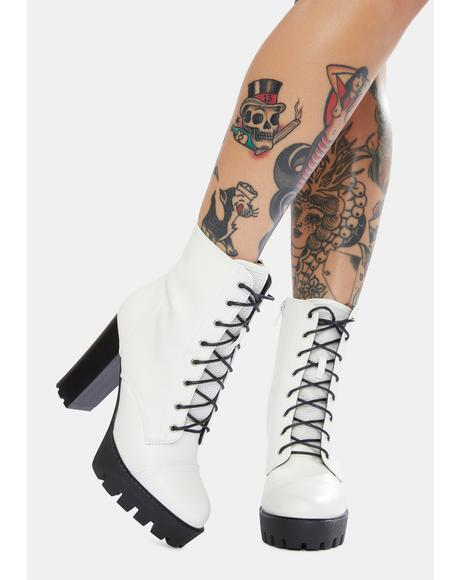 Angel Take A Stance Heeled Booties