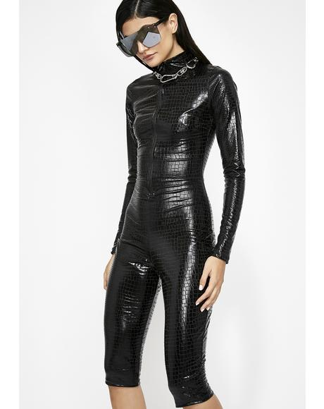 Stealth Bomber Cropped Catsuit