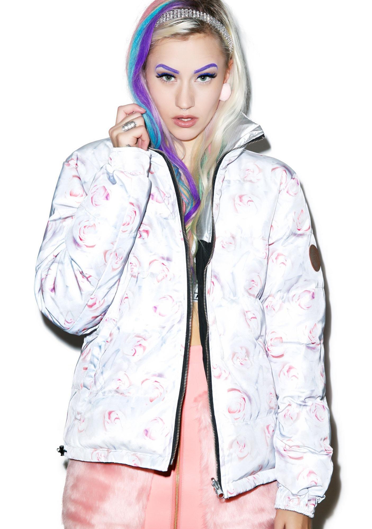 Joyrich White Rose Reverse Jacket
