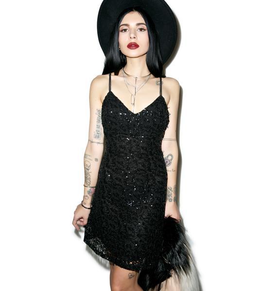 Glamorous Double Crossed Sequin Cami Dress
