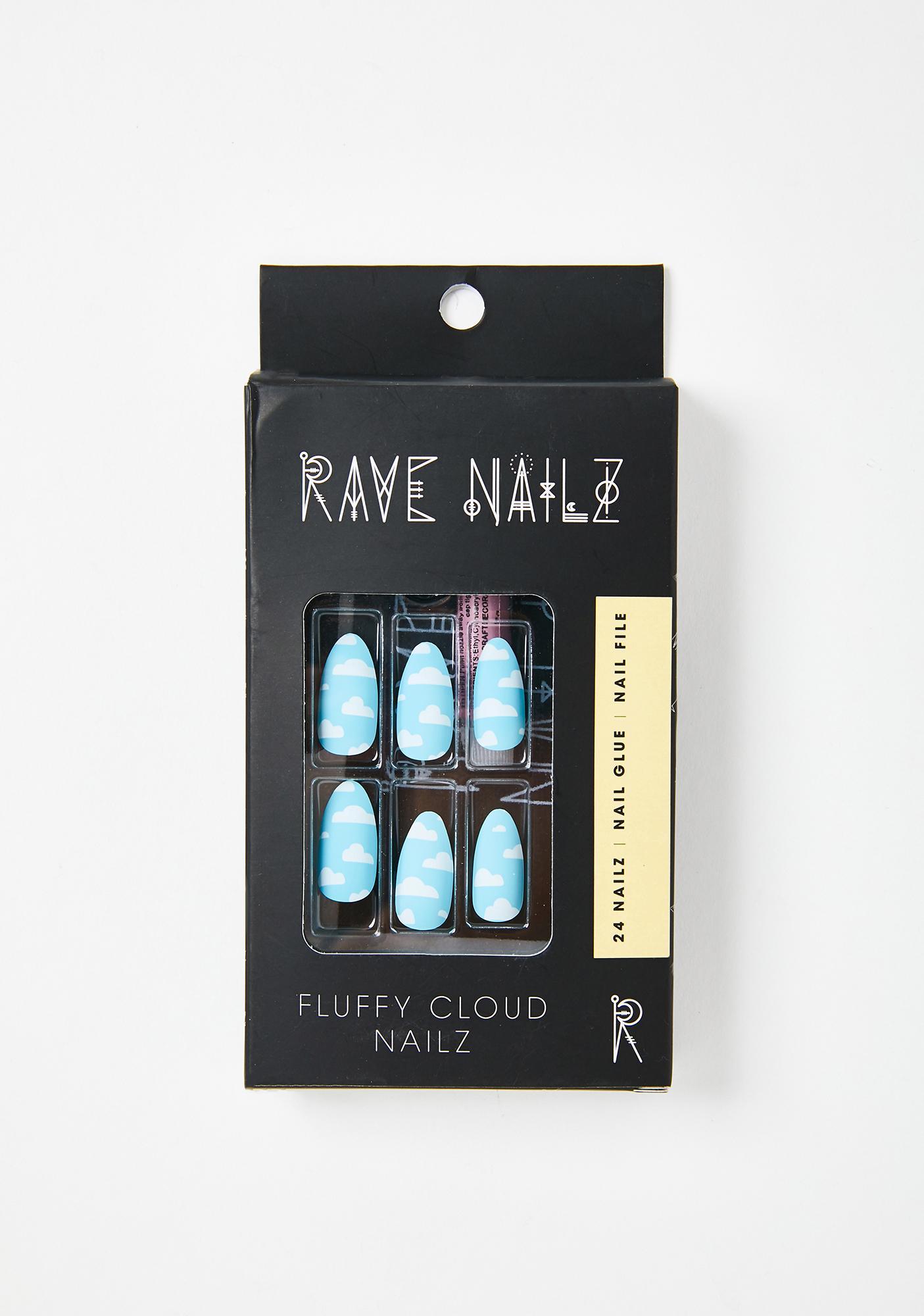 Rave Nailz Fluffy Cloud Acrylic Nails