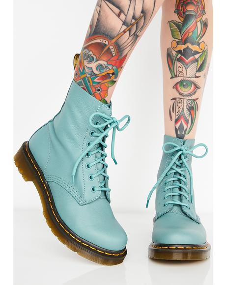 1460 Pascal Pale Teal Boots
