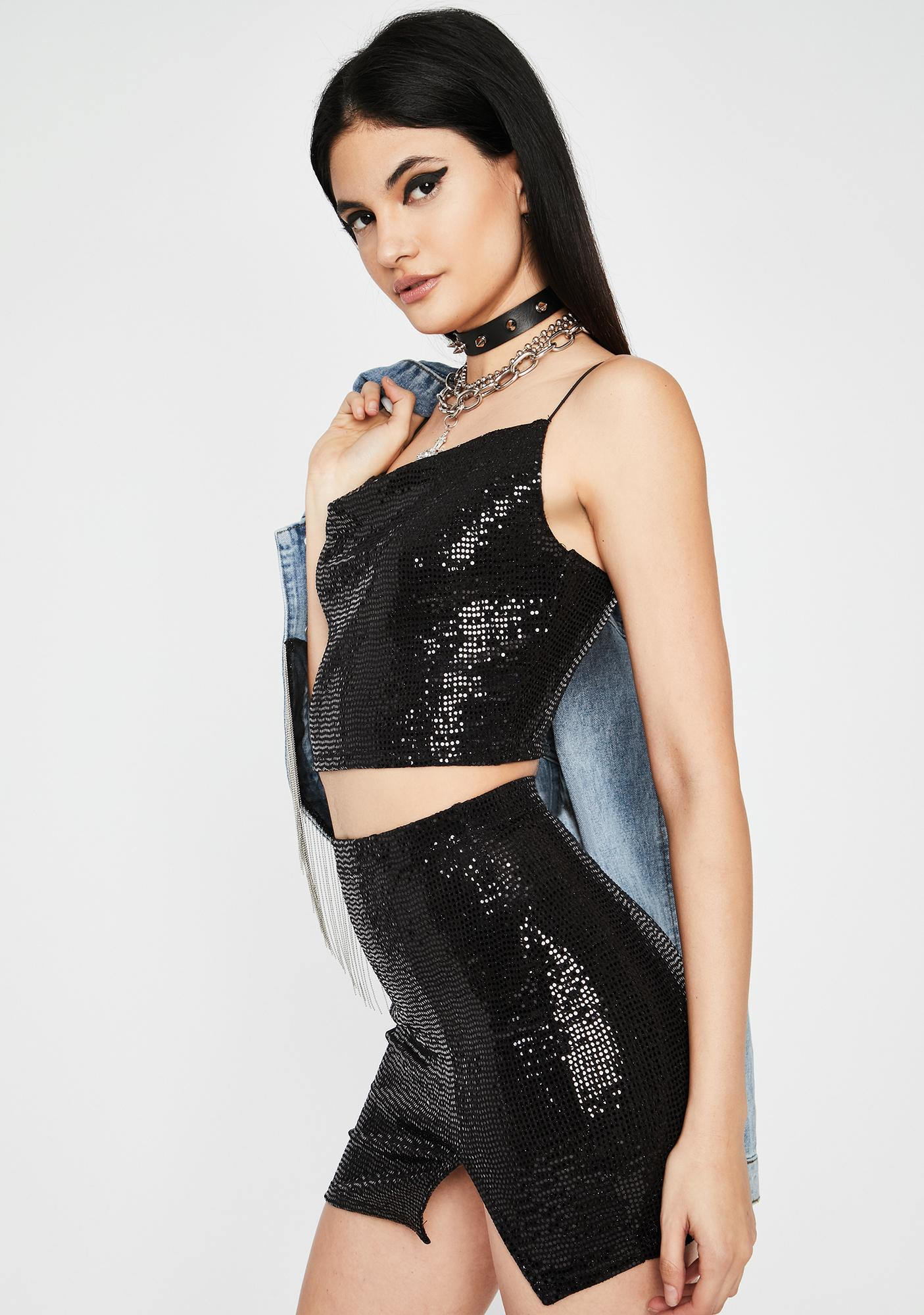 Gone All Night Sequin Set