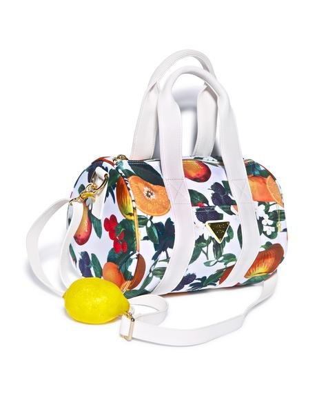 Orange Blossom Shoulder Boston Bag