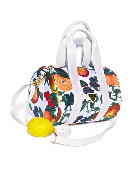 Orange Blossom Shoulder Boston Bag