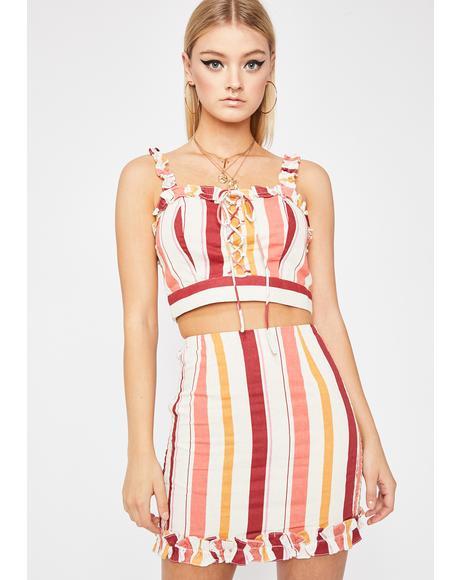 Popular Demand Striped Skirt