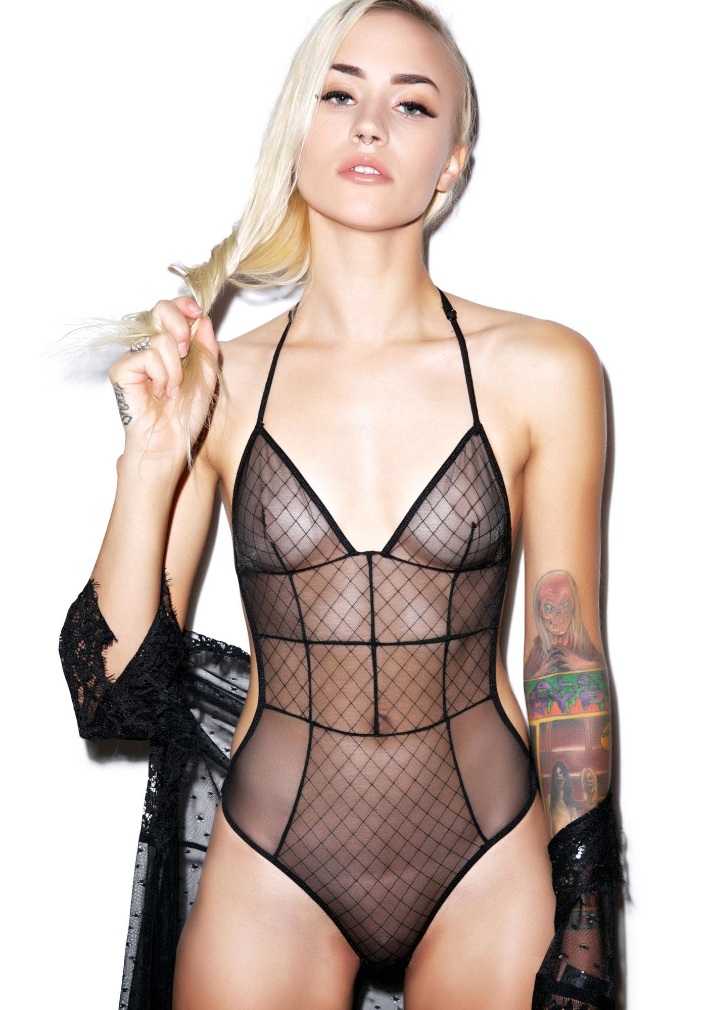 6fdf36f34b1 Love Haus Sheer Sexy Bodysuit | Dolls Kill