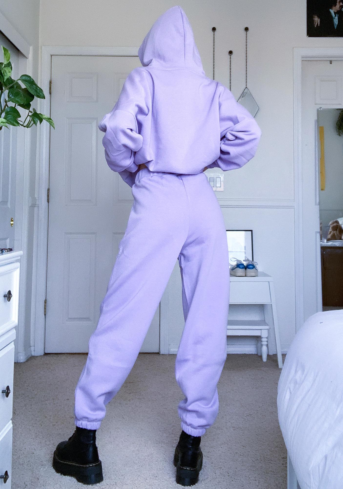 Criminal Damage Purple Toggle Sweatpants