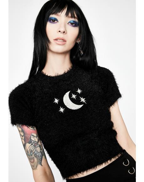 Moody Moonlight Fuzzy Sweater