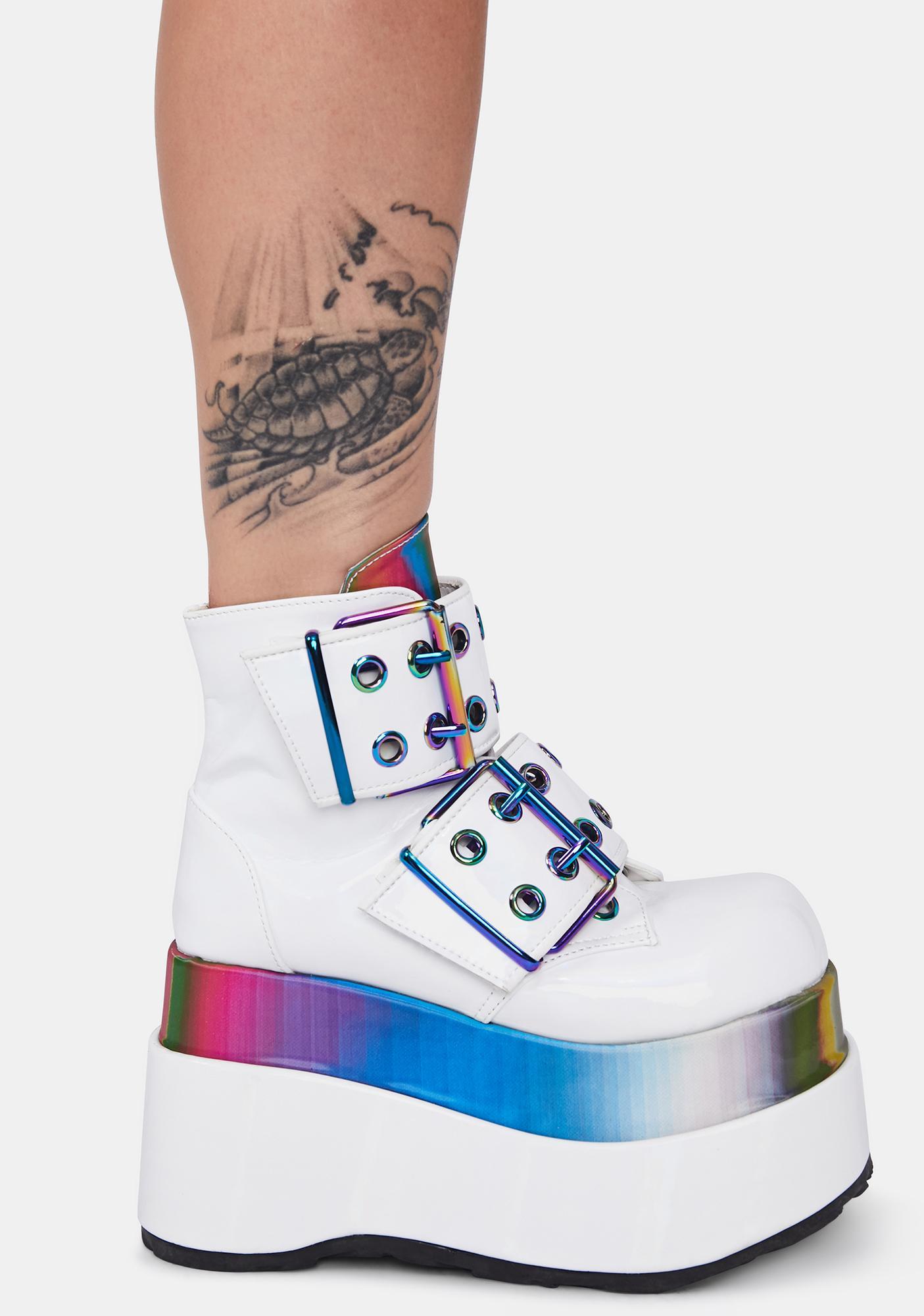 Demonia Disco Rhythm Platform Boots