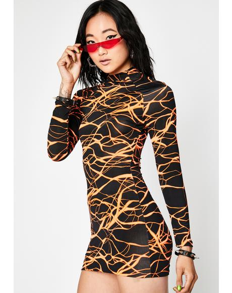 Futuristic Zone Mini Dress