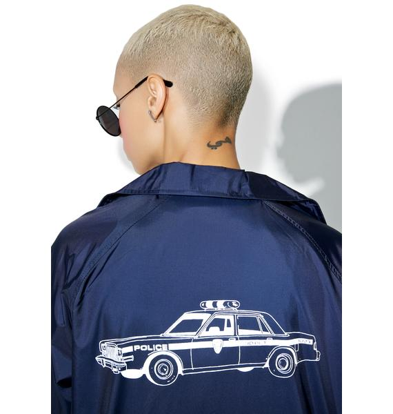 HUF X Chocolate Cop Car Coaches Jacket