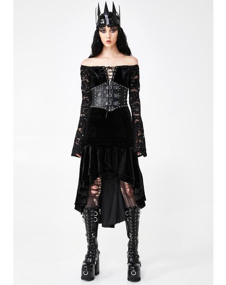 Gothic Velvet Lace Dress