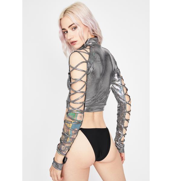 Chrome Electric Lust Crop Jacket