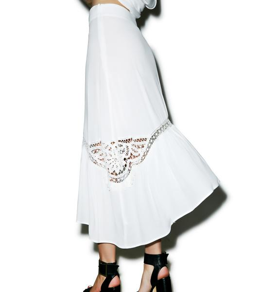 For Love & Lemons Penelope Midi Skirt