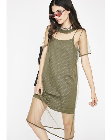 Intentionally Rude Mesh Dress