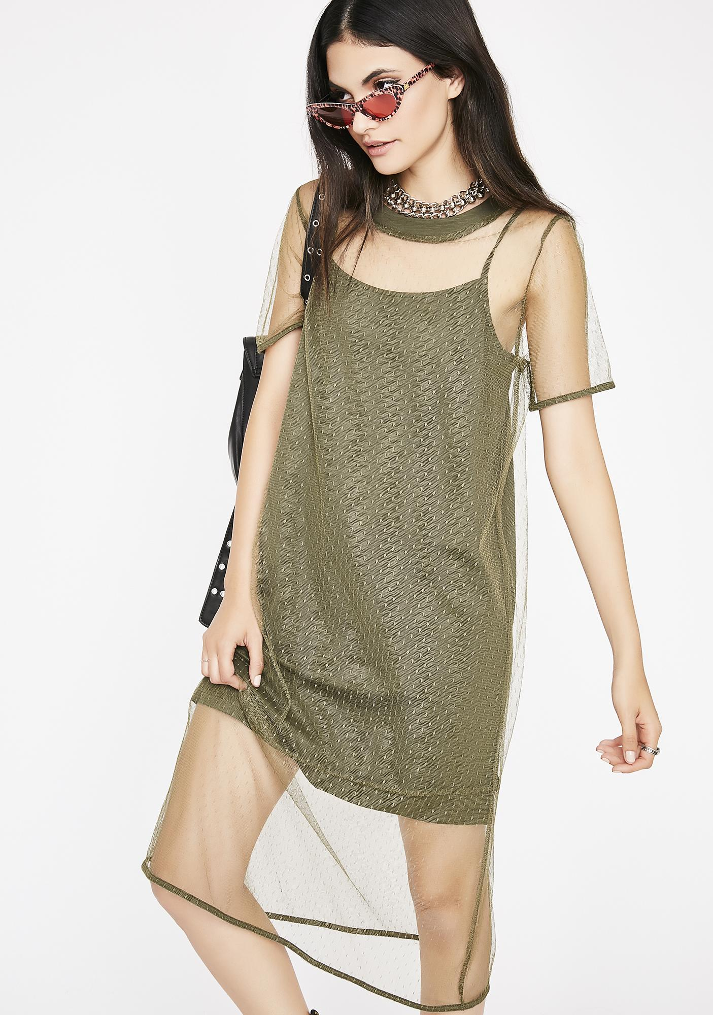 Intentionally Rude Mesh Dress by Very J