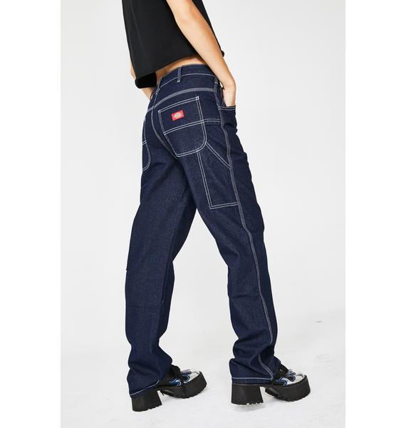 Dickies Girl Dark Denim Wash Carpenter Jeans