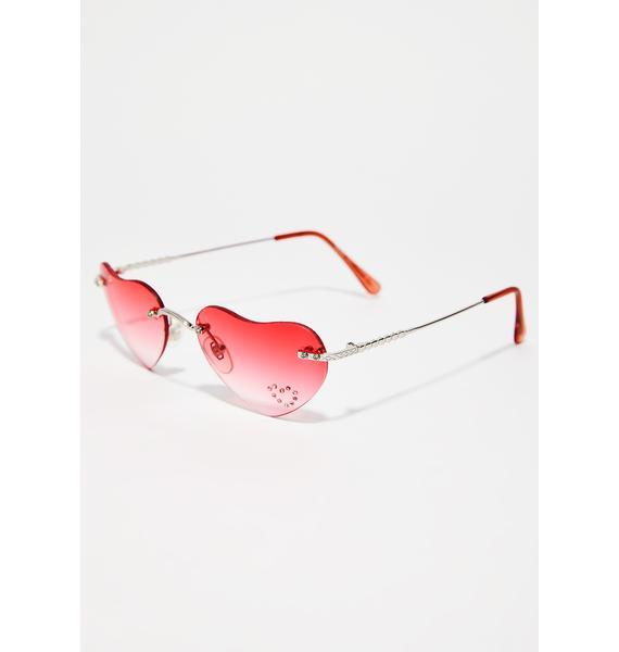 Lovagirl Lolita Heart Sunglasses