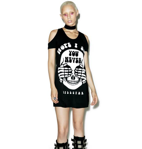 Killstar Never Cold Shoulder Dress