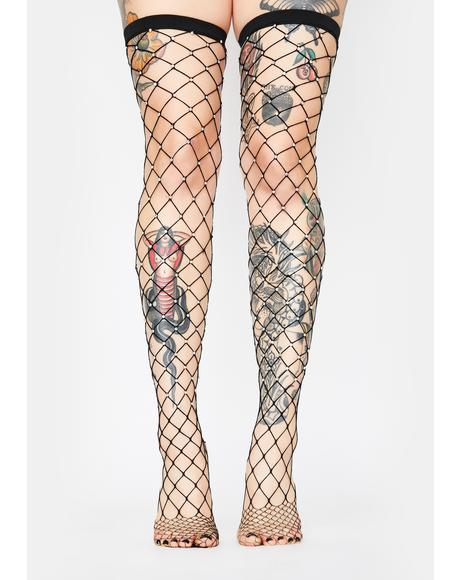 Primadonna Danger Fishnet Tights