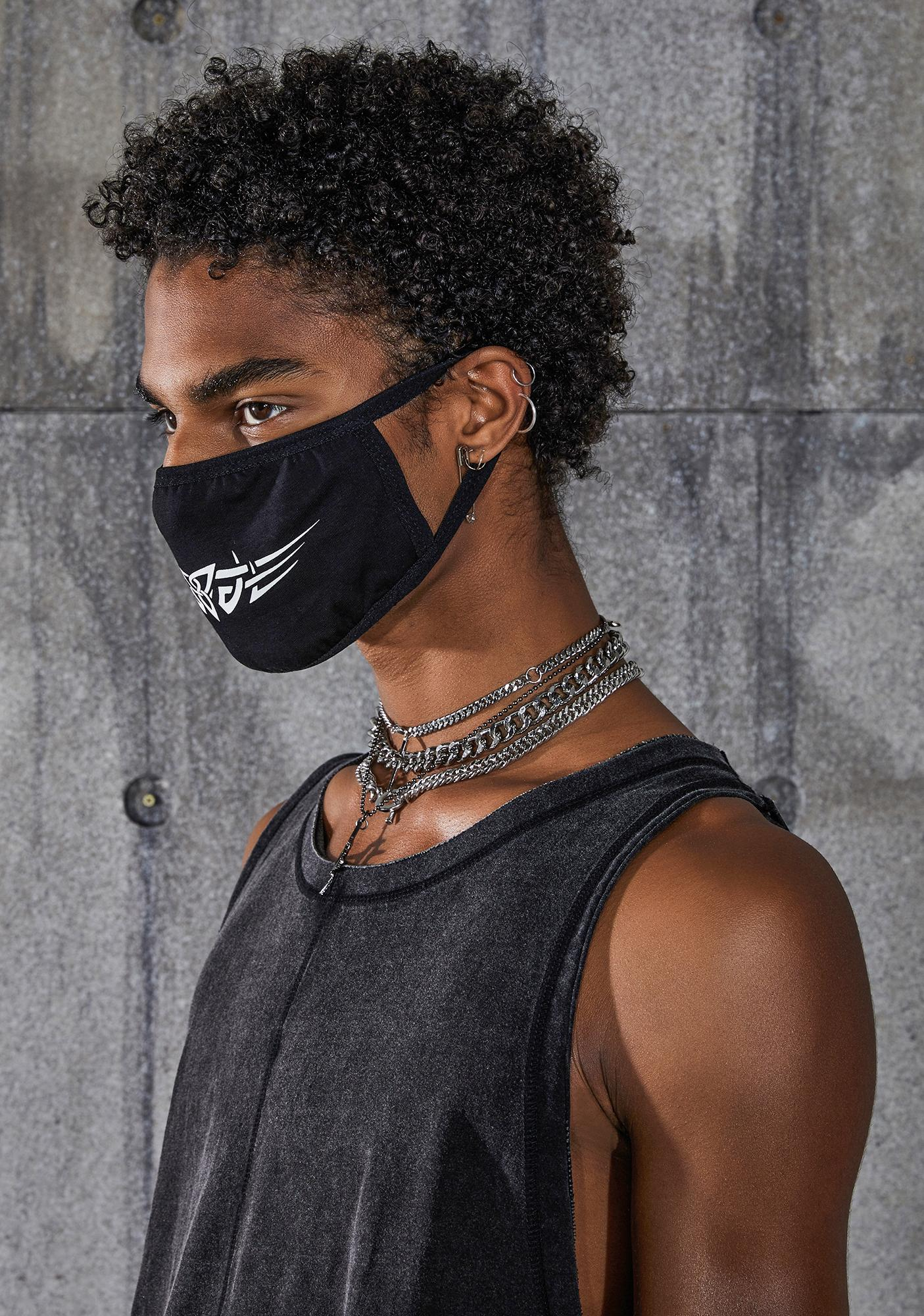 DARKER WAVS Snare Tattoo Graphic Face Mask