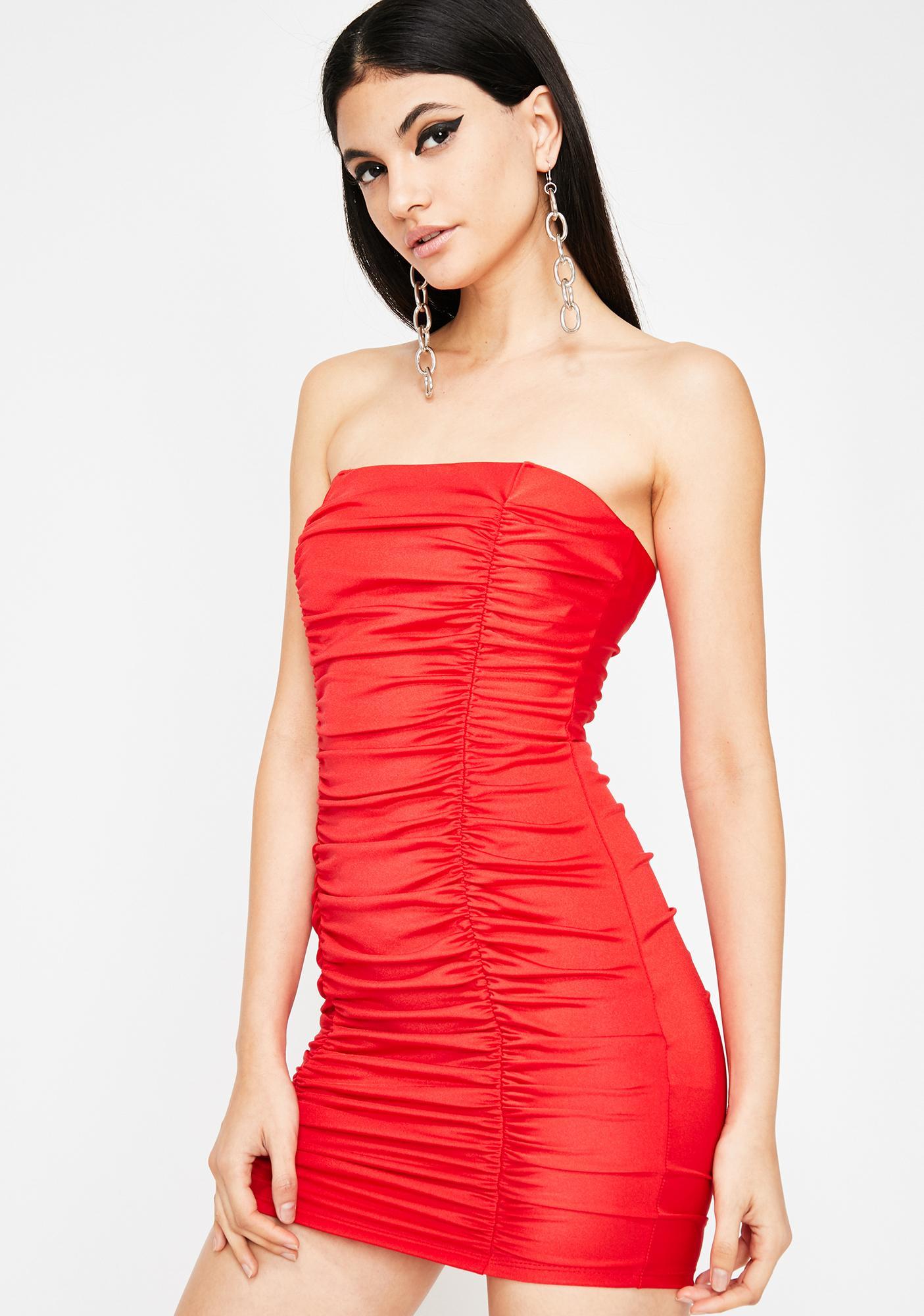 Hott Viral Wifey Ruche Dress