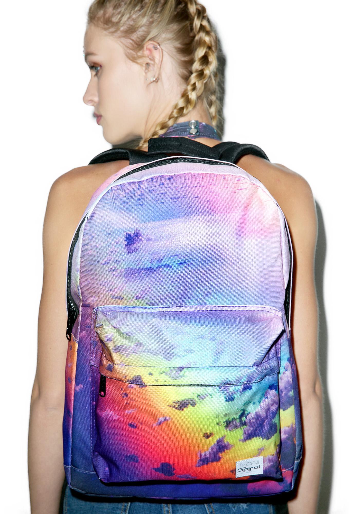 Spiral UK Rainbow Clouds OG Backpack