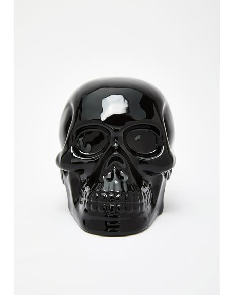 Black Skull Decor