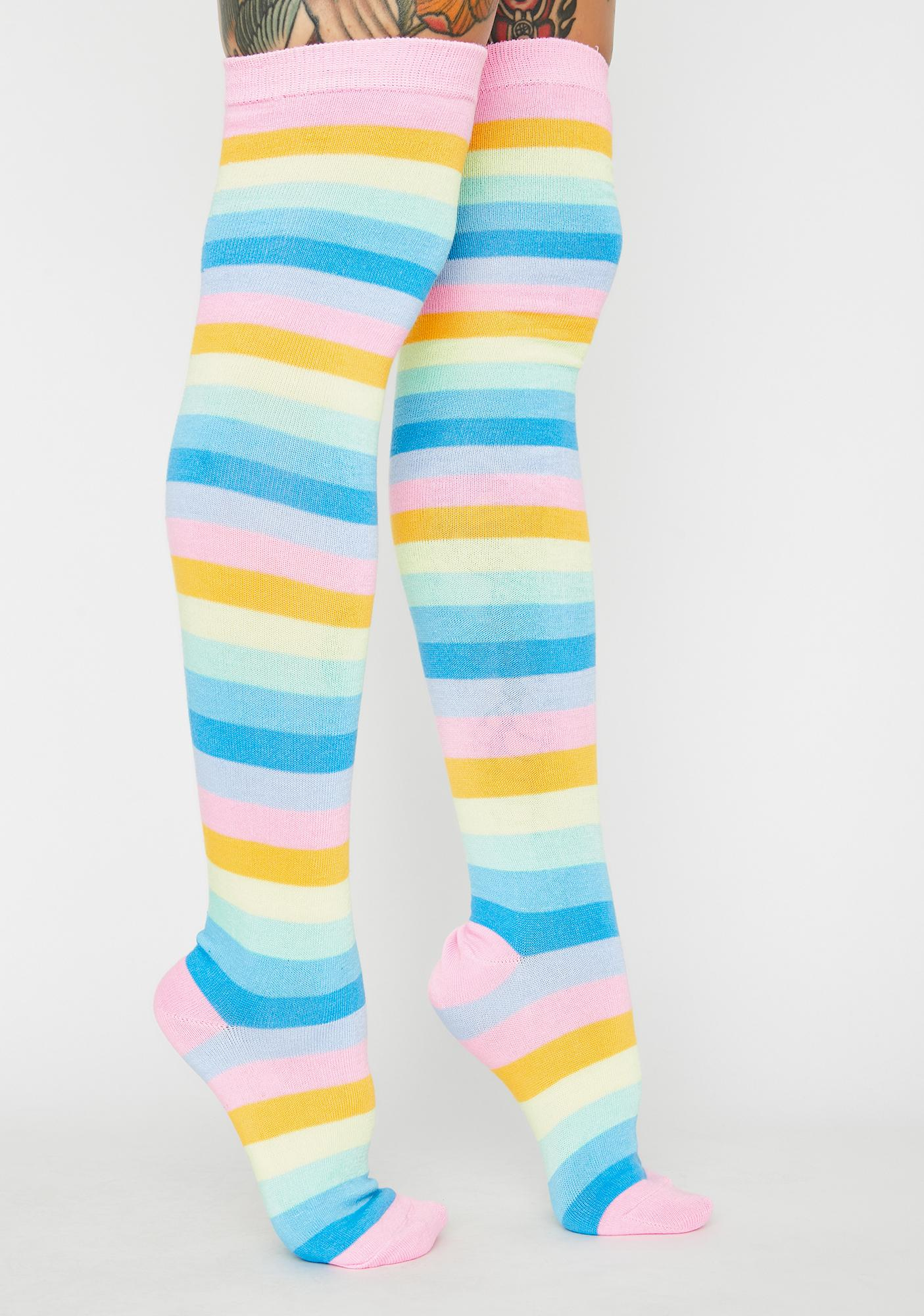 Gone To Candyland Striped Socks